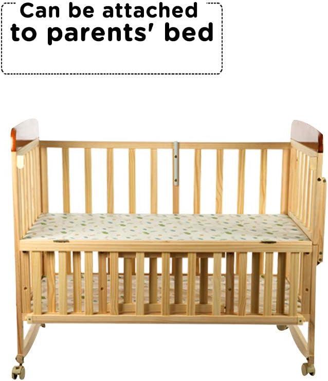 Mee Mee Baby Wooden Cot (Swing & Mosquito Net - Wooden)