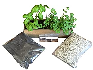 Rustic Indoor Herb Garden Kit (Rustic) Start Growing Culinary Herbs In Your  Kitchen Window Grow Cilantro, Basil, And Parsley