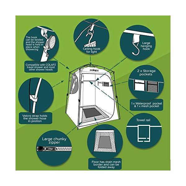 51cBMsI0eyL Colapz Duschzelt Camping - Camping Toilette hoch - Mobiler Sichtschutz Outdoor Pop Up Changing Tent - Mobile Dusche Zelt