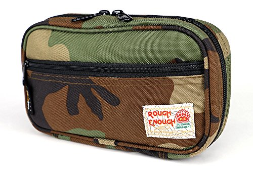 Rough Enough CORDURA Multi Functional Large Capacity Portable Tools Pouch Holder Travel Bag Cosmetic Organizer Storage Pencil Case for School Stationary Art Supplies Kids Men Women Outdoor by RE ROUGH ENOUGH
