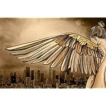 "Maxwell Dickson""City of Angels"" Los Angeles Modern Canvas Wall Art Print, 40-Inch x 60-Inch"