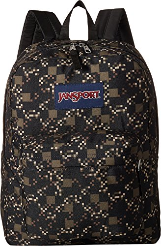 Unisex Green Black Backpack Multi Adult Jansport Label Superbreak Machine gwzWdq