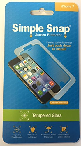 Simple Snap Tempered Glass Screen Protector for Apple iPhone 7 High Definition (HD) Tempered Glass
