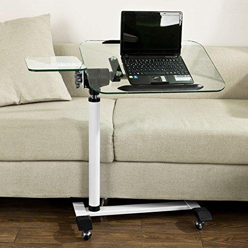 SoBuy FBT07N5, Tempered Glass Laptop Table, Bed Sofa Side