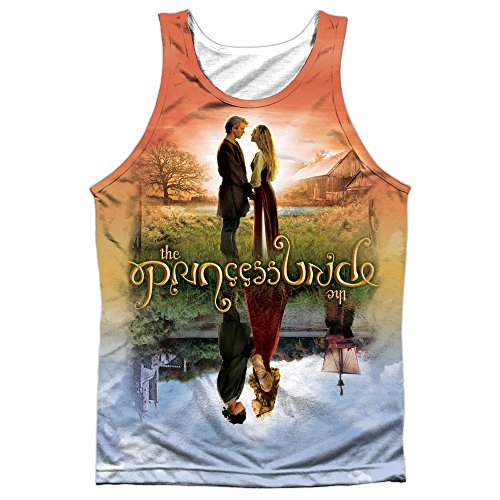 Princess Bride Poster Sub (Front/Back Print) Mens Sublimation Polyester Tank Top Shirt (White, Small)