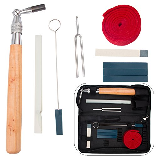 Lowest Price! Luvay Piano Tuning Kit Tools (10 items) Professional Hammer/ Lever, (Felt) Mutes, Fork
