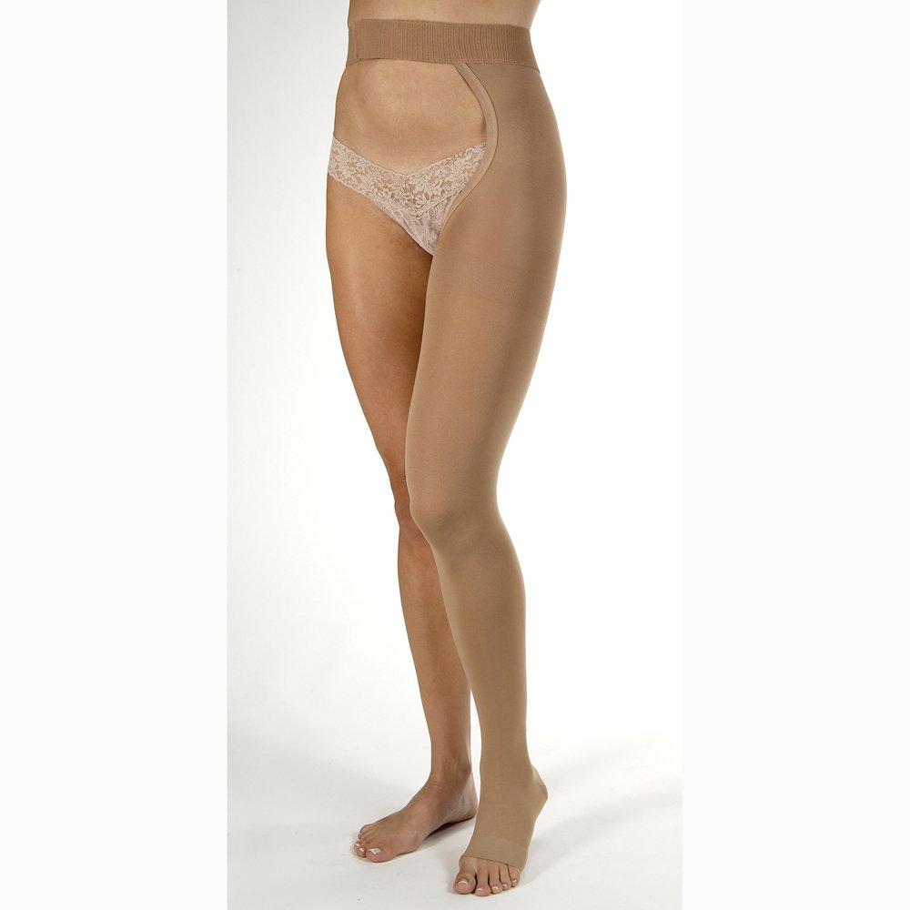 Relief 20-30 mmHg Single Leg Open Toe Chap Size: Medium, Leg: Right