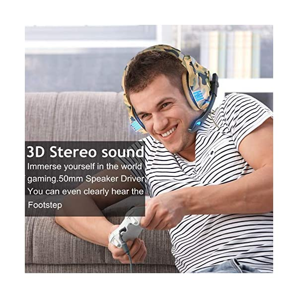 Kotion Each G7500 Gaming Headphone with Mic and LED (Camo Yellow)