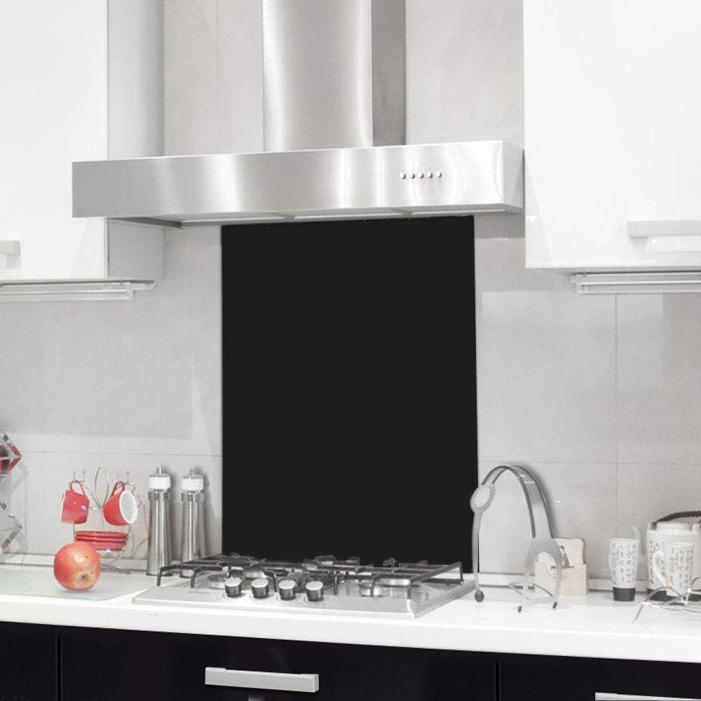 Nidda Black Toughened Glass Splashback - Buy Designer Kitchen Splashback UK (6060B)