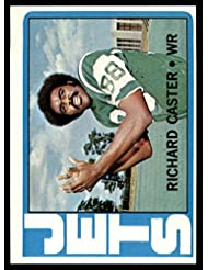 Football NFL 1972 Topps #68 Richard Caster Near Mint RC Rookie NY Jets