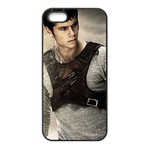 Dylan Obrien In The Maze Runner Wide coque iPhone 5 5S cellulaire cas coque de téléphone cas téléphone cellulaire noir couvercle EOKXLLNCD23383