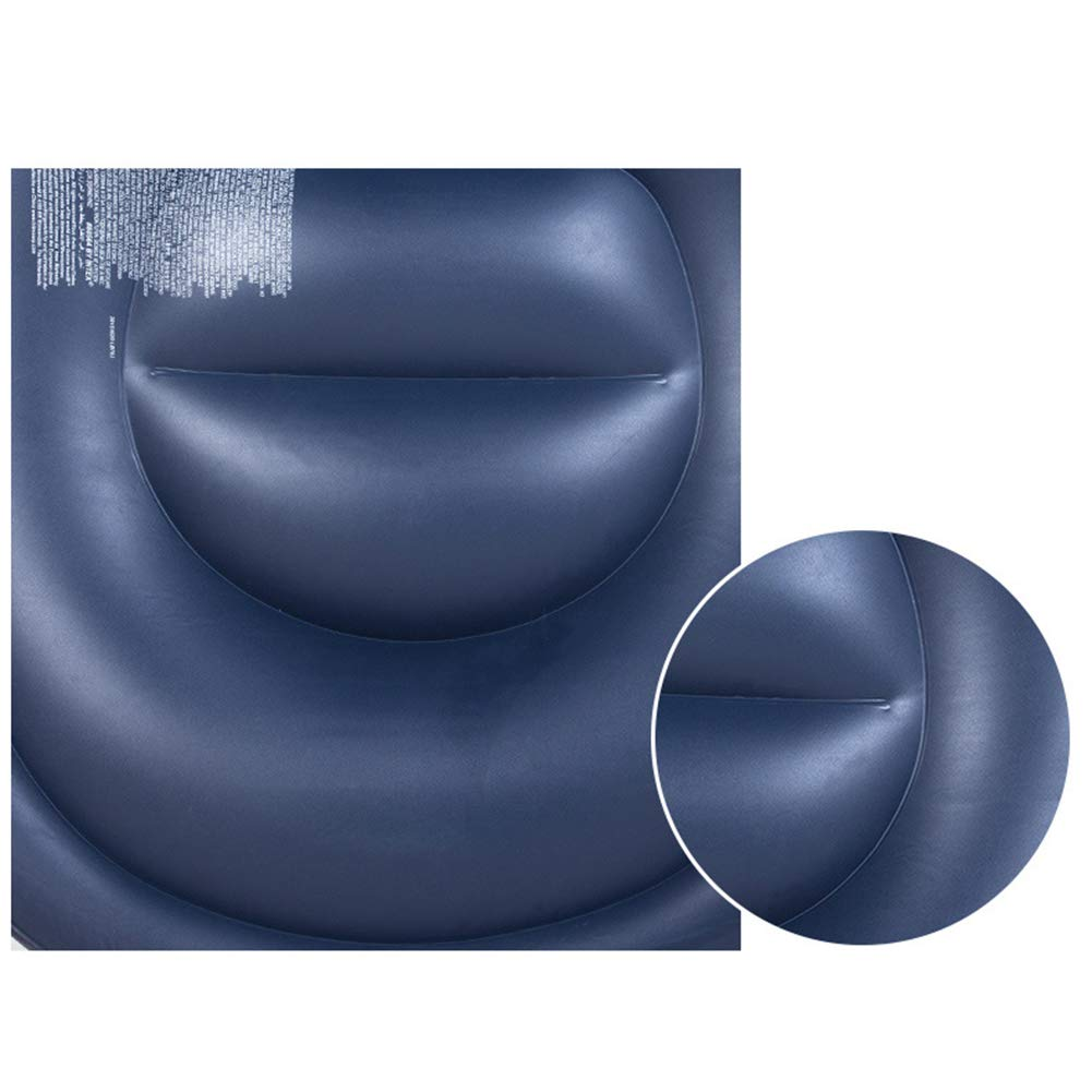 Softmusic Foldable Inflatable Air Sofa Chair Valve Design Anti-Leaking Lazy Couch Home Office Decor Grey by Softmusic (Image #4)