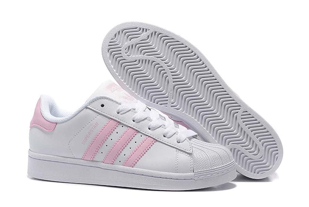 Adidas Superstar Damen Trainer weiß klar Pink weiß, 8.5 UK