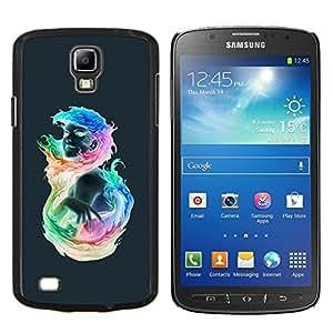 LECELL--Funda protectora / Cubierta / Piel For Samsung Galaxy S4 Active i9295 -- Muchacha colorida llameante --