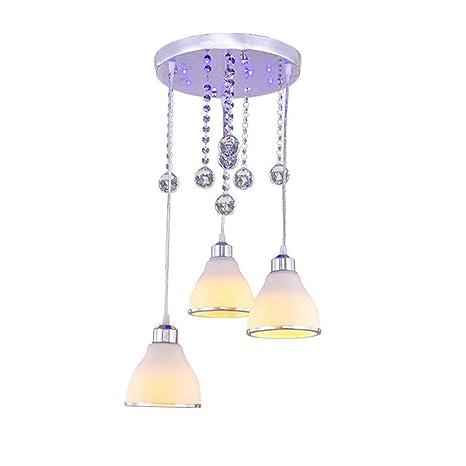 Amazon.com: Lámpara de techo de cristal E26 con base de ...