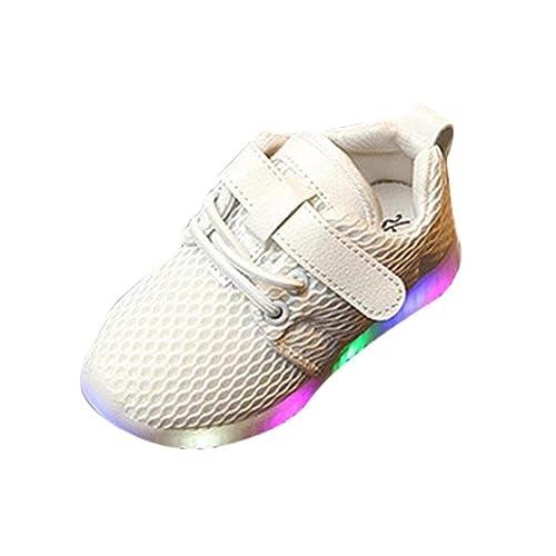 Zolimx LED Illuminare Scarpe Bambino Piccolo/Ragazzino Ragazze Lampeggia Sneakers (30, Nero)