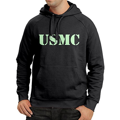lepni.me N4446H Hoodie USMC (Small Black Fluorescent) (Homeland Security Uniform)