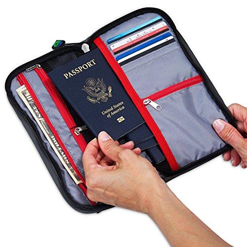 MyTribeTravel Travel Wallet Organizer - Up to 6 Passports - NO Cumbersome Passport Slots