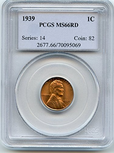 1939 Lincoln Cent MS-66 PCGS