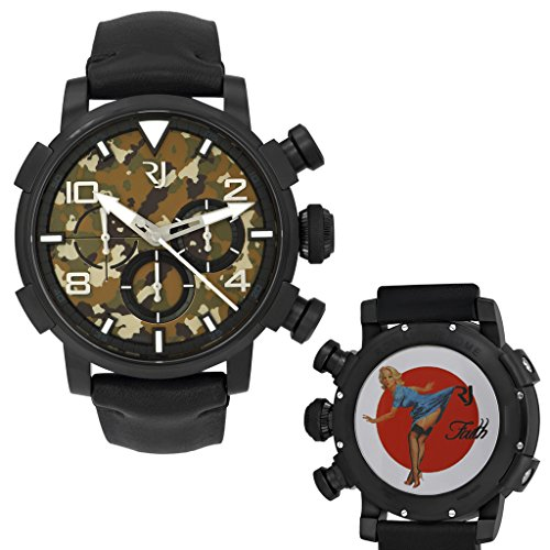 Romain Jerome Pinup DNA WWII Faith Blue Chrono Auto Men Watch RJ.P.CH.002.01