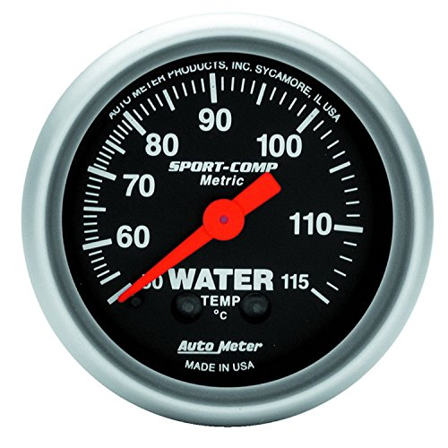 Auto Meter 3332-M Sport-Comp Mechanical Metric Water Temperature Gauge ()