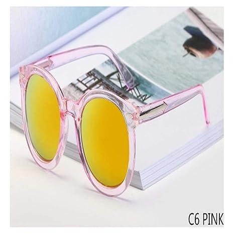 Yangjing-hl Espejo Gafas de Sol Mujer Flecha Redonda Marca ...