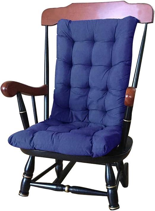 Oceanheart Colchoneta para Tumbona Portable Color Puro para Sillón de Exterior, Cojín de Silla reclinable extraíble de jardín Patio (Azul Oscuro): Amazon.es: Jardín