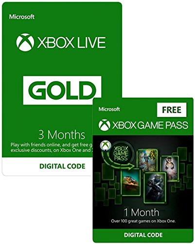 Xbox Live 3 Month Gold Membership + 1 Month Xbox Game Pass FREE | Xbox One/360 - Download Code