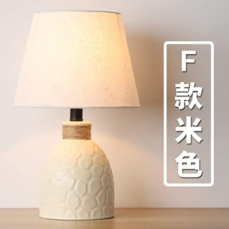 Lámpara de mesa de cerámica simple sala de estar dormitorio ...
