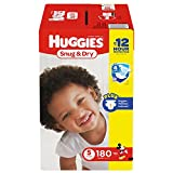 Branded Huggies Snug & Dry Diapers - Diaper Size 5 - 180 Ct. ( Weight 27+ Lbs.) (Bulk Qty at Whoesale Price, Genuine & Soft Baby diaper)