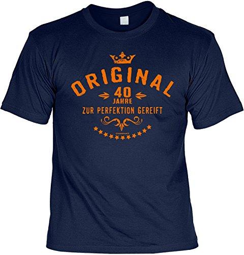 T-Shirt Spruchshirt als Geschenk - Original 40 Jahre - witziges Funshirt für den vierzig Jährigen zum Geburtstag