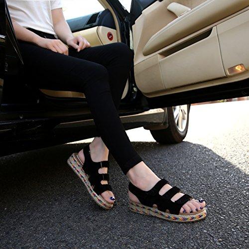 De Mujer Zapatos Tacón Negro Sunavy 1qBfp