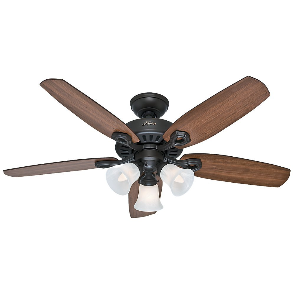 Hunter 52107 Builder Small Room 42-Inch New Bronze Ceiling Fan with Five Brazilian Cherry/Harvest Mahogany Blades and a Light Kit by Hunter Fan Company (Image #1)