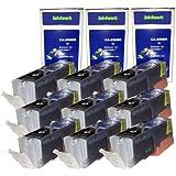 ink4work 9 Pack PGI-250XL PGI250XL Black Compatible Ink Cartridge Set for Pixma IP7220, MG5420, MG6320, MX722, MX922