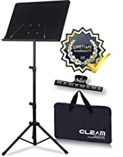 GLEAM Sheet Music Stand Metal with Carrying Bag