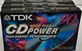 TDK CD Power 90 High Energy Performance Audio Cassette Tapes - 3 Pack