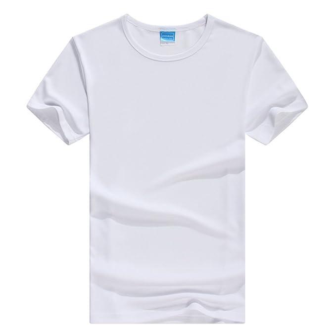1b611c78029a ZKOO Basic T Shirts Herren Kurzarm Sommer Sport Freizeit Sport T Shirt  Basic Plain Baumwolle T-Shirt Tops  Amazon.de  Bekleidung