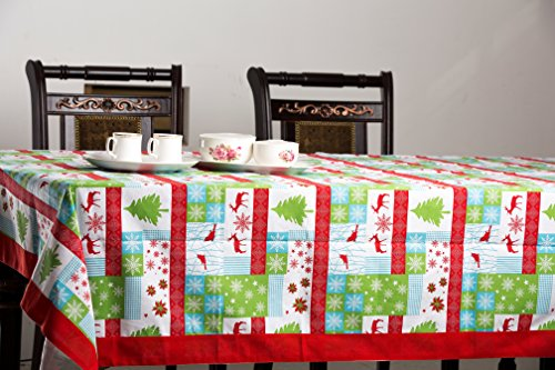 """80 % OFF CLEARANCE SALE 100% Cotton Tablecloth Holiday Collection by Thread Spread Designed in FRANCE (60""""x90"""")"""