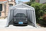 Sliverylake Auto Storage Shelter Car Garage Steel Carport Canopy Tent (10×15×8ft, Gray)