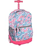 J World Move Out Rolling Backpack - blue raspberry, one size