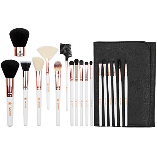 amoore 18Pcs Makeup Brushes Makeup Brush set Makeup Brush with Case Foundation Brush Powder Brush