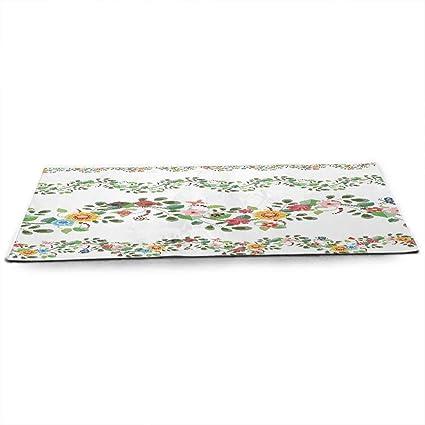 Amazon.com : WinfreyDecor Green Flower Eco Friendly Yoga Mat ...