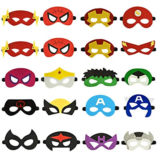 (Party Supplies for Boys 3-12, dmazing Spiderman Mask Superhero Felt Masks for Kids Classroom Rewards And Prizes Toys for 3-12 Year Old Boys Girls Birthday Gifts Party Favors for Kids Party Cosplay Sup)