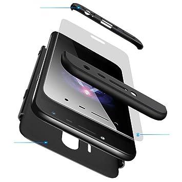 AILZH Funda movil Compatibles para Samsung Galaxy J5 2017 carcasa+[Cristal templado]360 grados Caja protección de cáscara dura Anti-Shock Caso mate ...