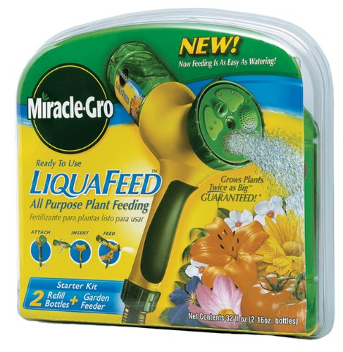 Scotts Miracle Gro 100411 Liquafeed 2 Refill Bottles + Ga...
