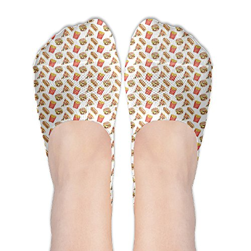 Junk Food Women No-Show Casual Liner Socks Low Cut Ankle Socks Boat Socks