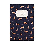 """Cute illustrated 2018 Planner New Year Planner Monthly Weekly Scheduler Personal Organizer Business Appointment Book Agenda Journal, 176p, 4.92"""" X 7.08"""" (Fox)"""
