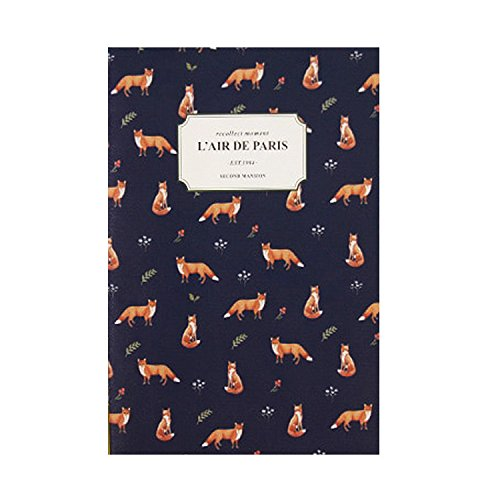 "Cute illustrated 2018 Planner New Year Planner Monthly Weekly Scheduler Personal Organizer Business Appointment Book Agenda Journal, 176p, 4.92"" X 7.08"" (Fox)"