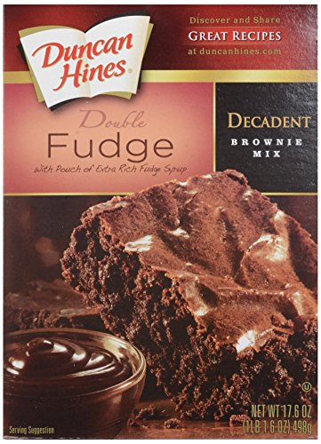 Duncan Hines Decadent Brownie Mix, Double Fudge, 17.6 oz