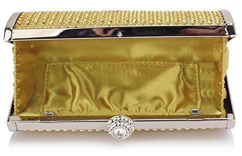 Luxury Clutch Sparkly Hardcase Diamante Ladies Chain With Designer Evening New Hard Women Design Look Bag Handbag Case Gold 1 Box qd0x4gq